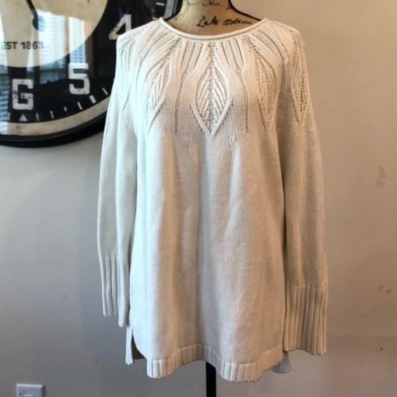 b24bde35444 Plus Size CHAPS Cable Knit Crewneck Sweater